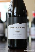 Ridge Crest Syrah 2010 - Simply Delicious