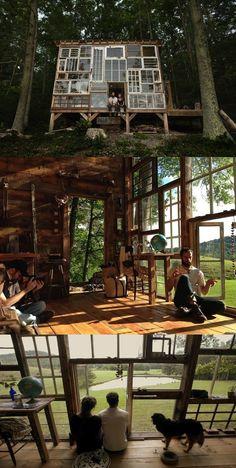 Cabana nas montanhas em West Virginia