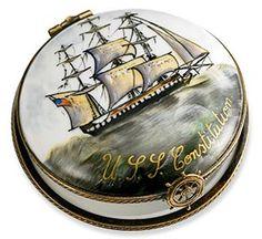 A unique gift idea. Limoges Ship Box