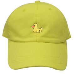 471a9033999 Capsule Design Cute Duck Dad Baseball Cap Lemon
