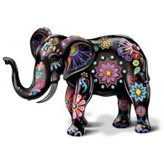 Handcrafted, hand-painted porcelain elephant figurine by artist Blake Jensen. crystals, glitter and high-gloss finish. Porcelain Doll Makeup, Porcelain Dolls Value, Porcelain Dolls For Sale, Porcelain Jewelry, Fine Porcelain, Porcelain Tiles, Painted Porcelain, Hand Painted, Elephant Parade