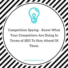You can spy on your strong competitors on what they are doing for their SEO and try to replicate their effort in terms of your SEO effort like getting similar backlinks and citations (NOT COPYING THEIR CONTENT OR WEBSITE). You can also see what keywords they are ranking for so you can see how they get visitors to their site.   You can use tools like ahrefs.com or semrush.com or even Open site Explorer.   If you need a comprehensive report contact me on wesley@thecolorfultree.com and I'll…