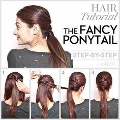 Prom hair tutorial fancy ponytail