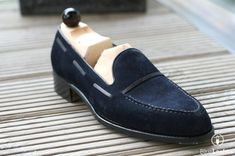 #Customize #Navy #Blue #Loafer #Moccasin #Suede #Men #PartyWear #Shoes