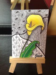 Zentangle Yellow Lily