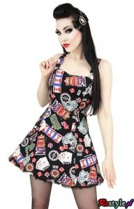 PHAZE CASINO pin up rockabilly dress