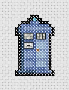 Doctor Who Tardis Cross Stitch PDF Pattern by ThatsSewEllie