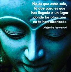 """Is not you're alone, you've came into a place where nobody else has got"" Wise quote by Alejandro Jodorowsky Osho, Wise Quotes, Inspirational Quotes, Yoga Mantras, Spiritual Messages, Spanish Quotes, Love Words, Positive Thoughts, Affirmations"
