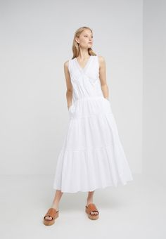 6b54bc49b575 Lauren Ralph Lauren UMAY SHORT SLEEVE CASUAL DRESS - Maxikleid - white -  Zalando.de