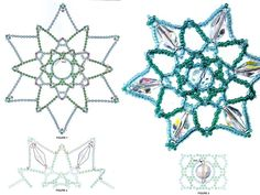 Beautiful beaded snowflakes