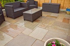 Autumn Brown Indian Sandstone Paving Slabs - Natural Patio Stone - Garden - Patio Kit