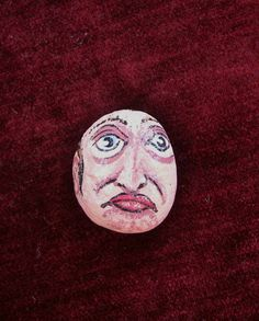 Painted Stone Chester Pebblehead by 2birdstudio on Etsy, $8.00