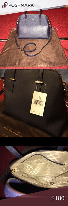 New with tags Kate Spade Cedar Street Maise Purse Authentic Cedar Street Maise (Offshore Blue 457) Purse. Comes with adjustable strap, Tags and Kate Spade brown dust cover. Bought it for $300, selling for $180. kate spade Bags