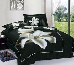 Elegante Bettwäsche Für Eine Blumige Atmosphäre Im Schlafzimmer