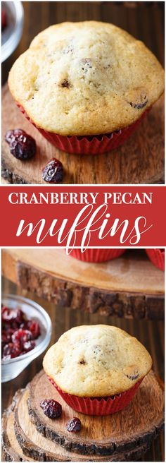 Cranberry Pecan Muffins - Serve as a festive breakfast with a mug of hot coffee!