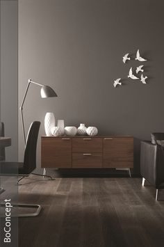 An interior design service tailored to you. BoConcept is a Danish furniture store that turns houses into modern homes. Browse our designer furniture. Boconcept, Danish Furniture, Design Furniture, Interior Design Services, Interior Design Inspiration, Sweet Home, Grey Walls, Dark Walls, White Decor