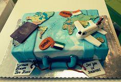 world map cake 30th Birthday Cake For Women, 30 Birthday Cake, Map Cake, Cake Art, Themed Wedding Cakes, Themed Cakes, Present Cake, Cake For Husband, Travel Cake