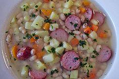 Westfälische weiße Bohnensuppe Omas Art