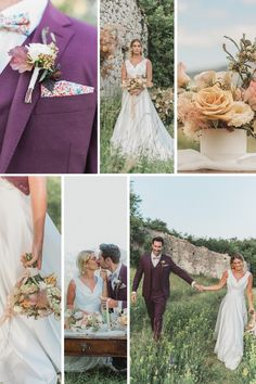 Spring Picnic Wedding in the South of France... Creative Direction: Danni Wing Events | Floral Design: Dandelions and Grace | Dress Designer: Goldleaf Finish | Suit: Keitel Cannes | Make-up & Hair: Allure Make-up | Photography: Visuals By Abbi | Jewellery: l'Atelier Français Wedding Shoot, Wedding Ceremony, French Wedding Style, Crystal Champagne, Groom Wear, Dandelions, South Of France, Outdoor Ceremony, Bridal Looks