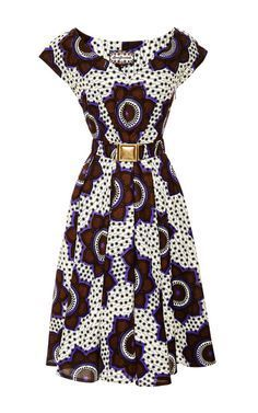 ♥African Fashion ■ Chocolate Stars Makeba Dress by for Preorder on Moda Operandi African Dresses For Women, African Print Dresses, African Attire, African Wear, African Fashion Dresses, African Women, African Prints, African Style, African Inspired Fashion