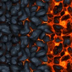Cooling Magma lava underdark tile