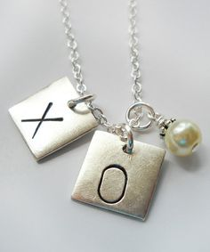 Sterling Silver 'X' & 'O' Pendant Necklace #zulily #zulilyfinds
