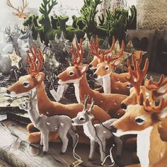 DEERS ARE US!! We have deers of all shapes and sizes in stock now for Christmas. Fur ones moss ones and woody ones!! Check them out today >>> open 10am to 2pm today