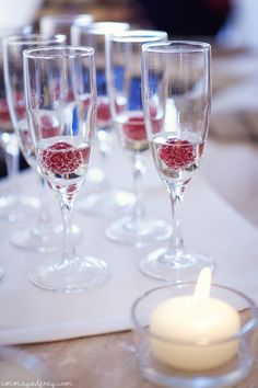 This is my sweet touch to glam glass of champagne