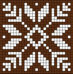 New Crochet Granny Square Chart Perler Beads Ideas Filet Crochet, Crochet Chart, Crochet Granny, Crochet Stitches For Blankets, Tapestry Crochet Patterns, Weaving Patterns, Cross Stitch Charts, Cross Stitch Embroidery, Cross Stitch Patterns