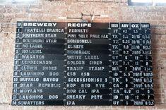 menuboard, blackboard, beer