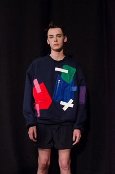 Pop bright nineties sweaters at Christopher Shannon SS15. More images here: http://www.dazeddigital.com/fashion/article/20304/1/christopher-shannon-ss15