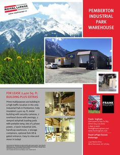 FOR LEASE PEMBERTON INDUSTRIAL PARK Industrial Park, Security Camera, Warehouse, Real Estate, Building, Backup Camera, Spy Cam, Real Estates, Buildings
