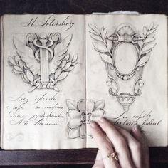 Ink sketches, moleskine