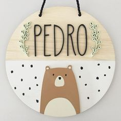 Diy Crafts To Do, Cute Crafts, Crafts For Kids, Wood Name Sign, Diy Bebe, Woodland Nursery Decor, Baby Art, Baby Kind, Baby Room Decor