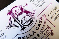 Bella Casa Business Card InviteBusiness CardsPiqueVisit CardsCarte De Visite