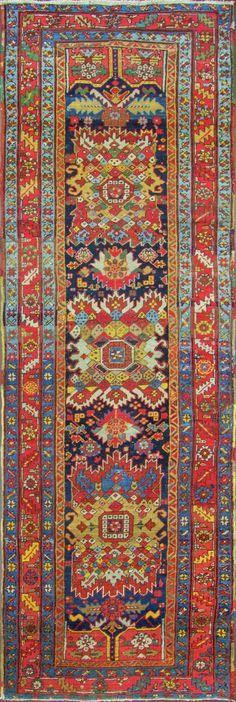 Persian Heriz runner, 109cm x 361cm, 1920, Eli Peer Oriental Rugs