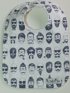 Baby Bibs  Baby Boy Bibs  Hipster  Cool by PickledBeetBoutique
