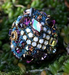 Vintage Crystals Rhinestones Ball Orb Sphere by ASoulfulJourney