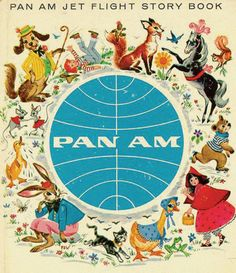 vintage Pam Am Jet Flight Story Book