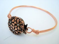 Bracelet  Copper Bangle with Clasp   Free by CrookedCrystal, $14.99