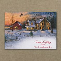 Country Life Personalized Christmas Cards with business name on front http://bustlingbride.carlsoncraft.com/Holiday/Seasons-Greetings-Cards/YM-YMMM0957-Country-Life.pro realtor Christmas cards!
