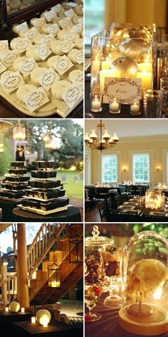 Love the white pumpkin and black theme of this wedding. Very classy