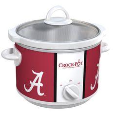 Shop for The Alabama Crimson Tide Collegiate Crock-Pot® Slow Cooker at Crock-Pot.com - If It Doesn't Say Crock-Pot®, It's Not The Original.