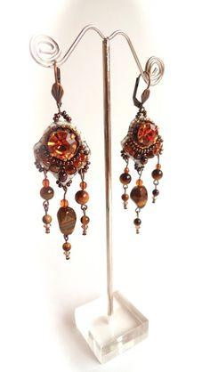 Boucles d'oreilles en Cristal & Oeil de Tigre de Bijoux & Bien-Etre sur DaWanda.com