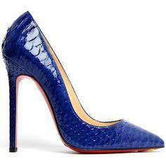 Christian Louboutin Blue Stiletto Pumps #CL #Louboutins #Shoes