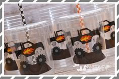 Monster Truck Birthday Party Cups-Kids Party Cups-Monster Truck Party Favors