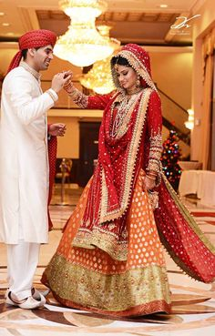 shorter sleeves, shorter top, all in red, net duputta Asian Wedding Dress, Indian Wedding Couple, Indian Bride And Groom, Pakistani Wedding Outfits, South Asian Wedding, Desi Wedding, South Indian Bride, Wedding Couples, Islam Wedding
