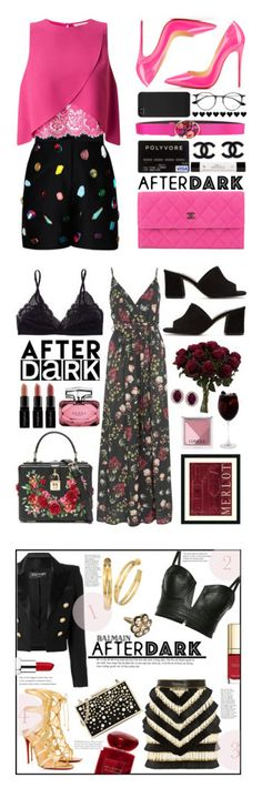 """Winners for After Dark: Party Outfits"" by polyvore ❤ liked on Polyvore featuring STELLA McCARTNEY, Miss Selfridge, Chanel, Christian Louboutin, philosophy, Oscar de la Renta, Incase, Ray-Ban, Oh My Love and Talula"