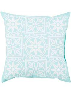 Moorea Indoor/Outdoor Pillow, Light Turquoise