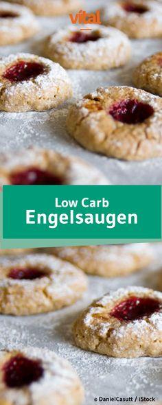Du machst gerade eine Low Carb Diät, willst aber nicht auf Süßigkeiten verzichten? Unser Low Carb Backrezept für Engelsaugen ist perfekt geeignet für eine kohlenhydratarme Ernährung. Weniger Kalorien aber super Geschmack! Und das Beste ist: Nach 20 Minuten können die Plätzchen vernascht werden.